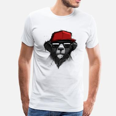 Dope Red Dope Bear - Men's Premium T-Shirt