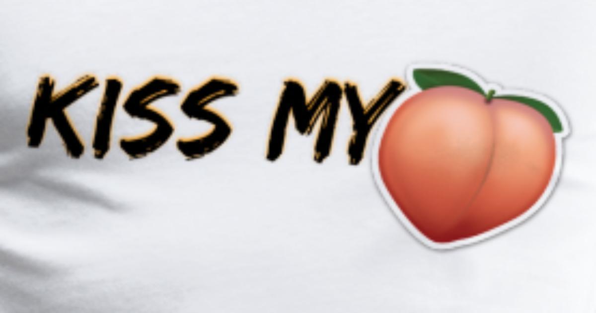 e34275239 KISS MY A**! (PEACH EMOJI) Men's Premium T-Shirt   Spreadshirt