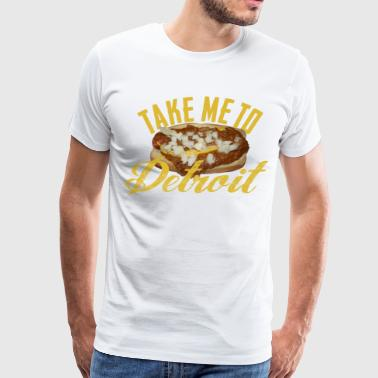 Take Me Detroit Coney Dog - Men's Premium T-Shirt