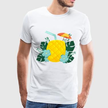 Pineapple Drink - Men's Premium T-Shirt