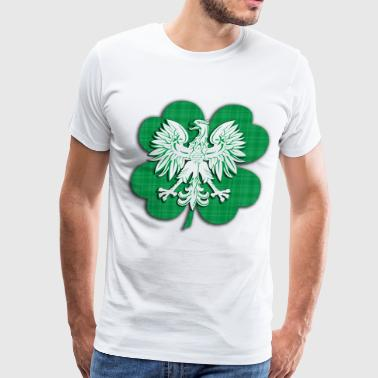 Irish Polish Heritage Eagle Shamrock - Men's Premium T-Shirt