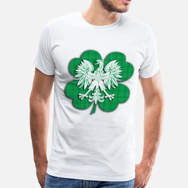 Polish Heritage Irish Polish Heritage Eagle Shamrock - Men's Premium T-Shirt