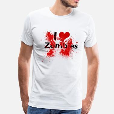 George Romero I heart Zombies - Men's Premium T-Shirt