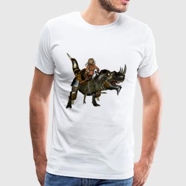 Awesome dinosaur with armor - Men's Premium T-Shirt