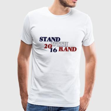 Rand Paul 2016 stand with rand - Men's Premium T-Shirt