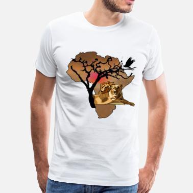 532f836265440e Wildebeest Africa - Men s Premium T-Shirt