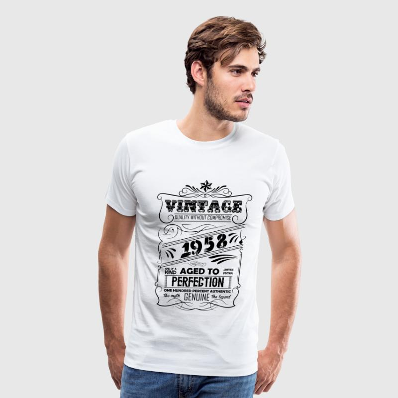 Vintage Aged To Perfection 1958 - Men's Premium T-Shirt
