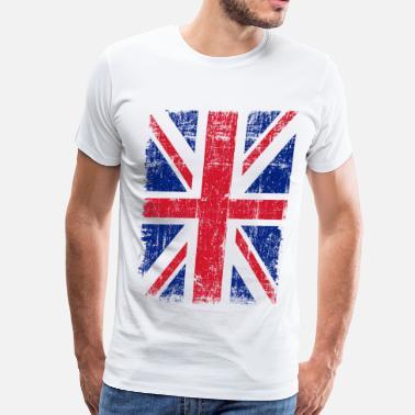 baa96a1f Union Jack Union Jack Flag Grunge - Men's Premium T-Shirt