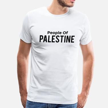 For Black People people of palestine black text - Men's Premium T-Shirt