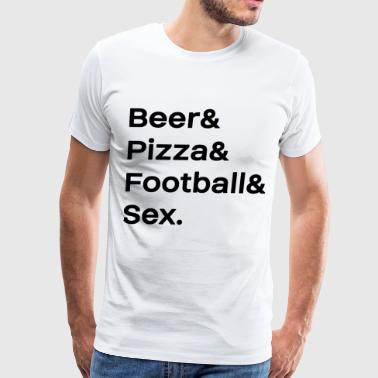 Sex Football Beer Pizza Football Sex Man Men Gift - Men's Premium T-Shirt