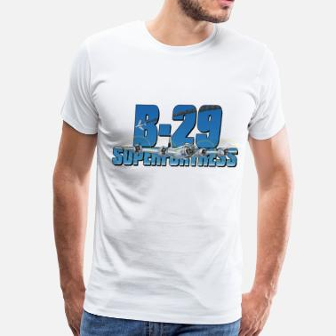 Airplane Dropping Bombs B-29 Superfortress T-shirt - Men's Premium T-Shirt