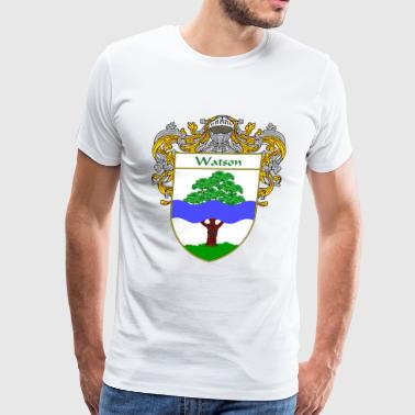 watson_coat_of_arms_mantled - Men's Premium T-Shirt