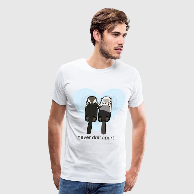 Sea Otters In Love - Men's Premium T-Shirt