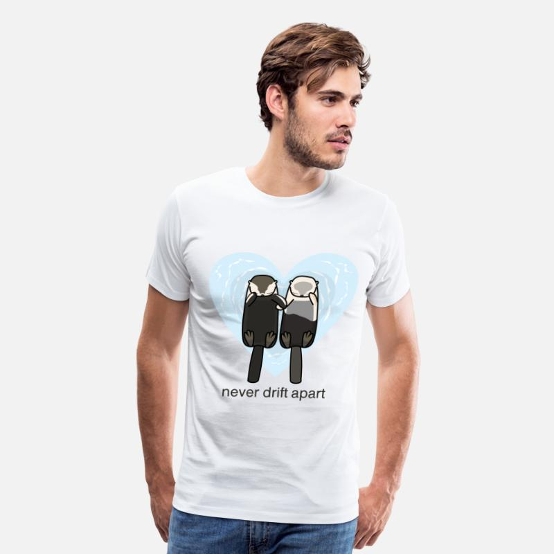 Love T-Shirts - Sea Otters In Love - Men's Premium T-Shirt white
