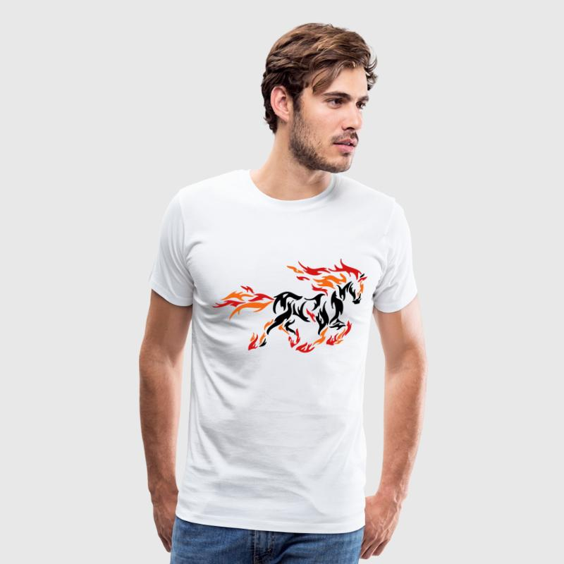 darr horse flame 11 - Men's Premium T-Shirt