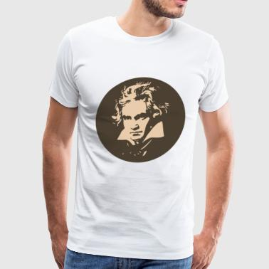 Ludvig Van Beethoven in circle for light shirts - Men's Premium T-Shirt