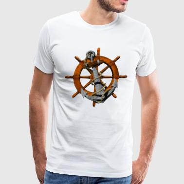 Anchor Wheel - Men's Premium T-Shirt