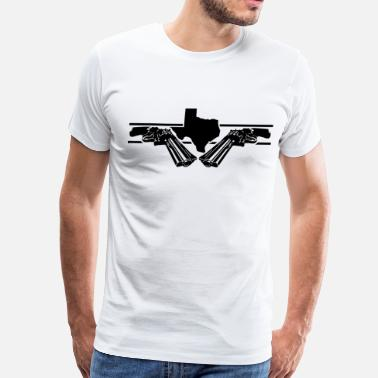 Guns Texas texas 2 guns - Men's Premium T-Shirt