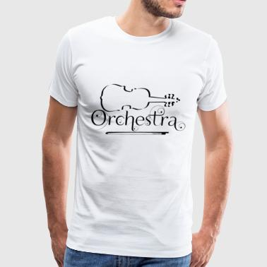 Orchestra Violin Outline - Men's Premium T-Shirt