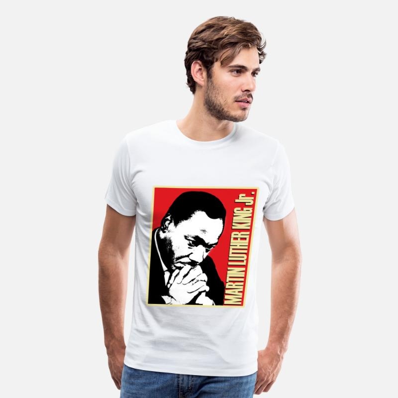 Black T-Shirts - martin_luther_king_jr_tshirt - Men's Premium T-Shirt white
