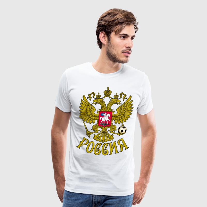 Gerb Rossii Coat of Arms of Russia Eagle футбол - Men's Premium T-Shirt