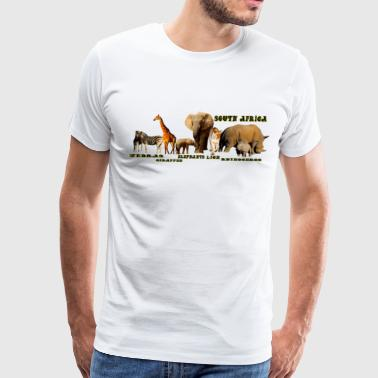 South African Wildlife Collage II - Men's Premium T-Shirt