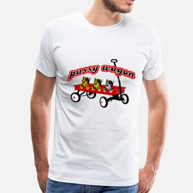 Reds Pussy Pussy Wagon Cat - Men's Premium T-Shirt