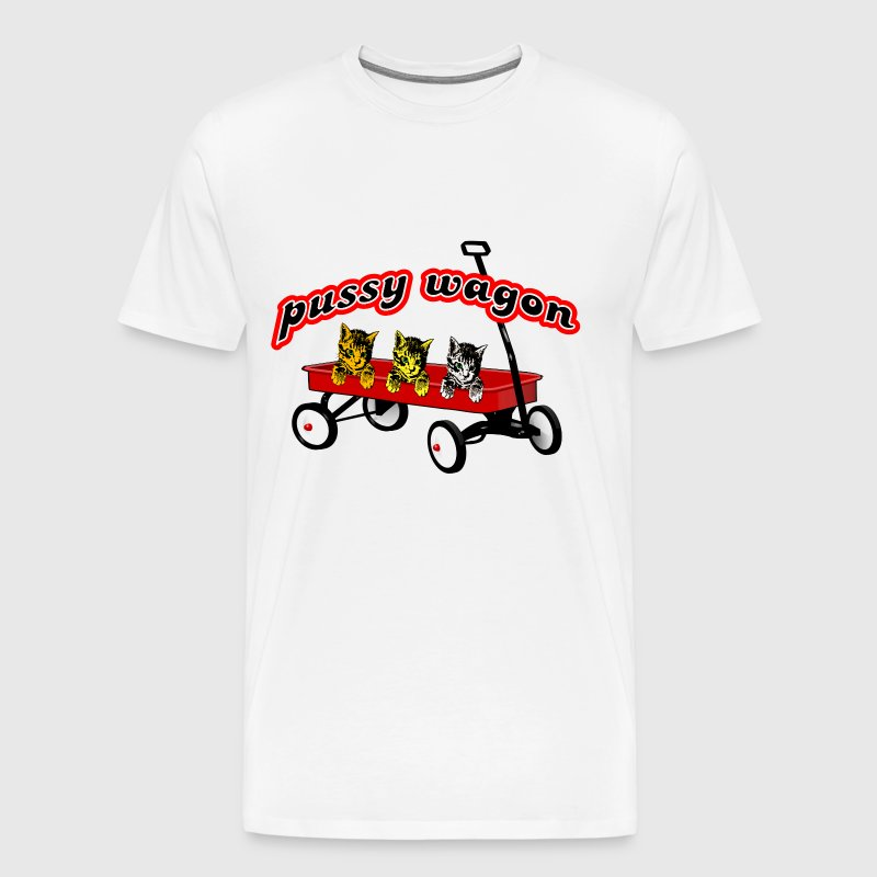 Pussy Wagon Cat - Men's Premium T-Shirt