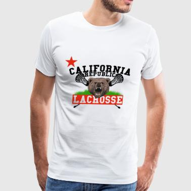California Republic Lacrosse - Men's Premium T-Shirt