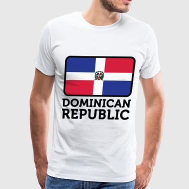 Flag Dominican Republic 2 (dd)++ - Men's Premium T-Shirt