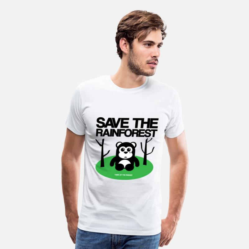 Amazon T-Shirts - Save the rainforest - Men's Premium T-Shirt white