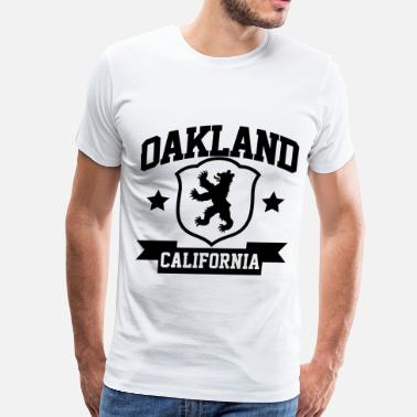 Oak Bay Oakland Heraldry - Men's Premium T-Shirt