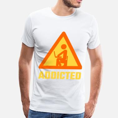 Computer Addict Addicted - Men's Premium T-Shirt
