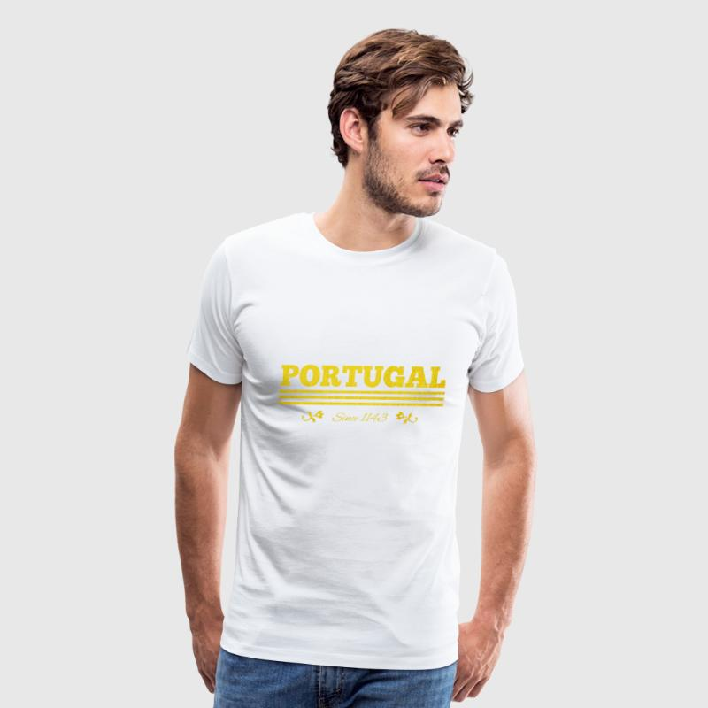 golden vintage Portugal since 1143 - Men's Premium T-Shirt