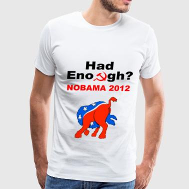 No Obama 2012 Democrat Head in Ass - Men's Premium T-Shirt