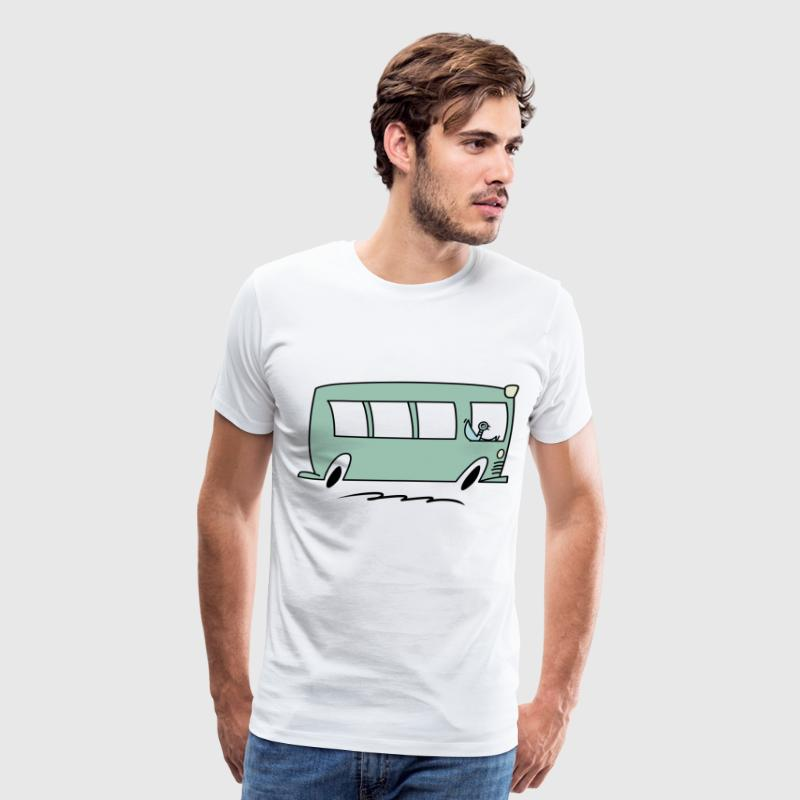 pigeon drive the bus - Men's Premium T-Shirt