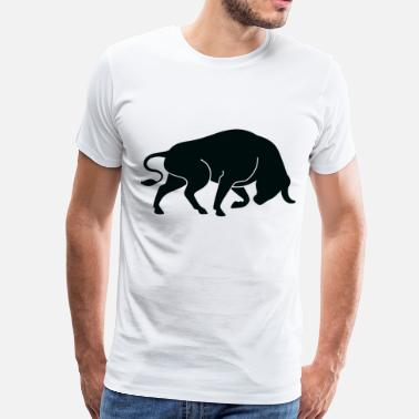 Bull Pictogram Bull (dd)++2013 - Men's Premium T-Shirt