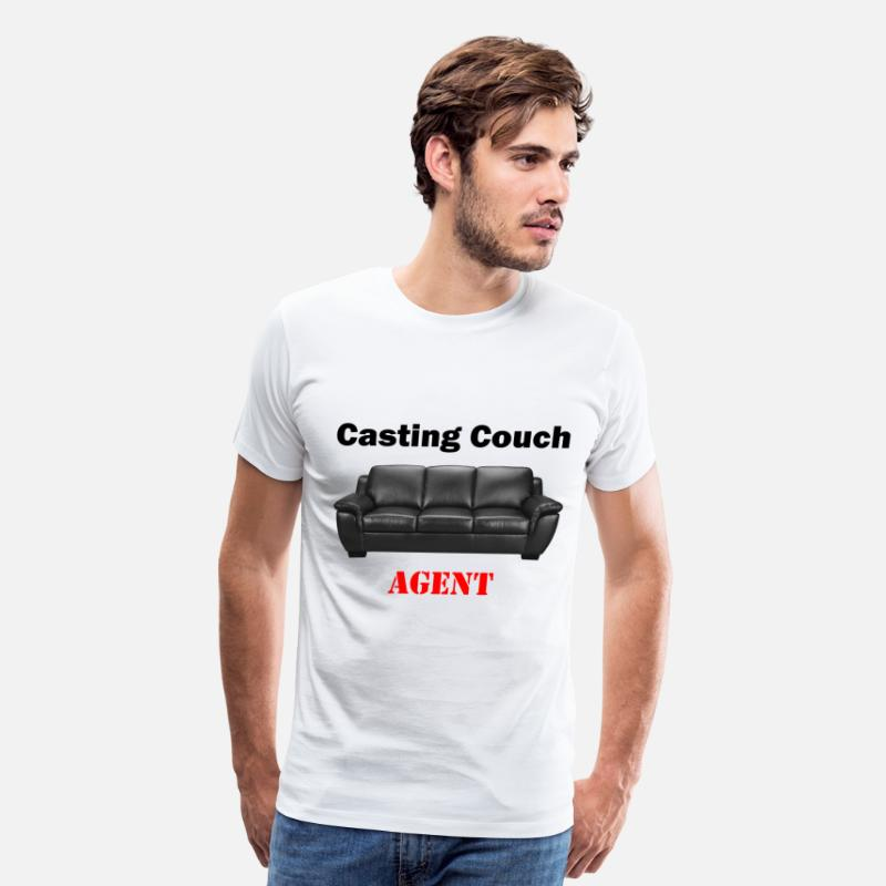 Actress T-Shirts - Casting Couch Agent - Men's Premium T-Shirt white