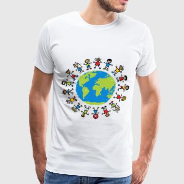 children around the world - Men's Premium T-Shirt