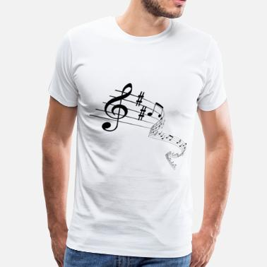 Braille music notes - Men's Premium T-Shirt