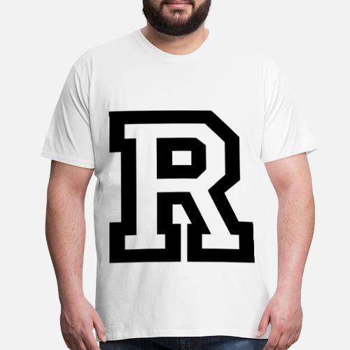 Letter R Men S Premium T Shirt Spreadshirt