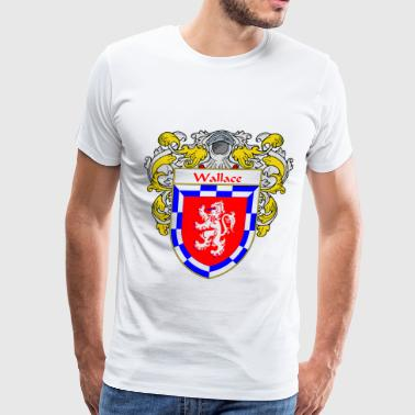 wallace_coat_of_arms_mantled - Men's Premium T-Shirt