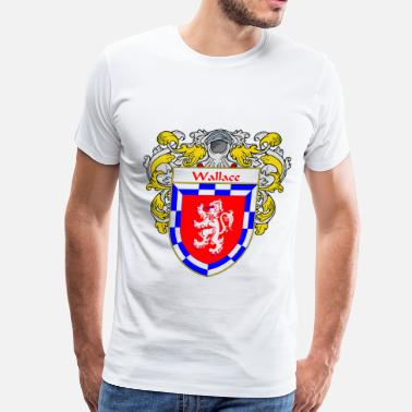 Family Crest wallace_coat_of_arms_mantled - Men's Premium T-Shirt