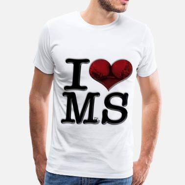 Red Milf I Love MS - MilfS (for light-colored apparel) - Men's Premium T-Shirt