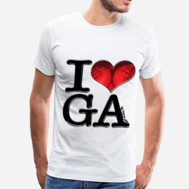 Breast Spelling I Love GAzongas (for light-colored apparel) - Men's Premium T-Shirt