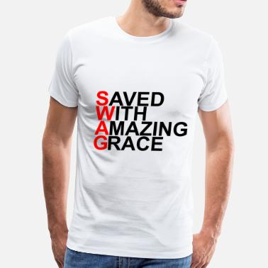 Saved With Amazing Grace saved_with_amazing_grace_swag - Men's Premium T-Shirt