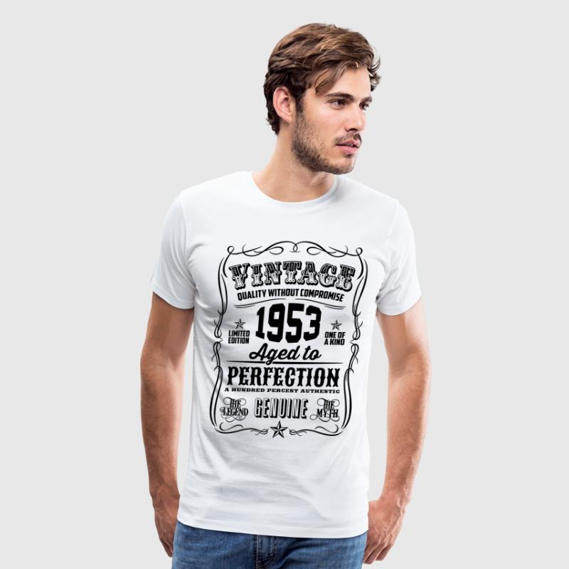 Vintage 1953 Aged to Perfection 63th Birthday gift - Men's Premium T-Shirt