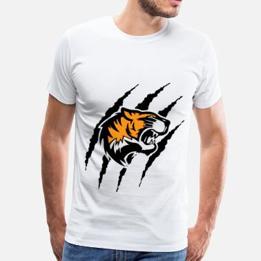 Tiger With Claw Marks Tiger with claw marks - Men's Premium T-Shirt