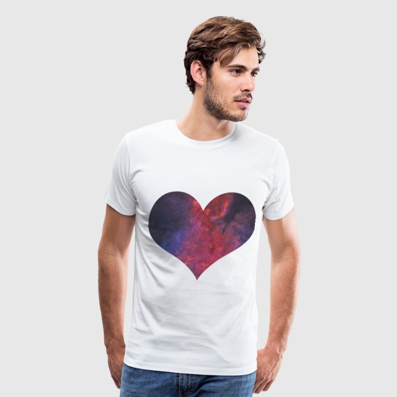 Galaxy Heart (Purple) - Men's Premium T-Shirt