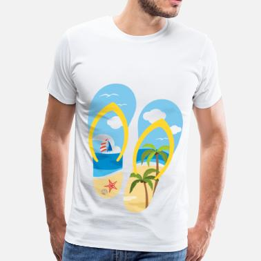 Tropical beach shoes - Men's Premium T-Shirt